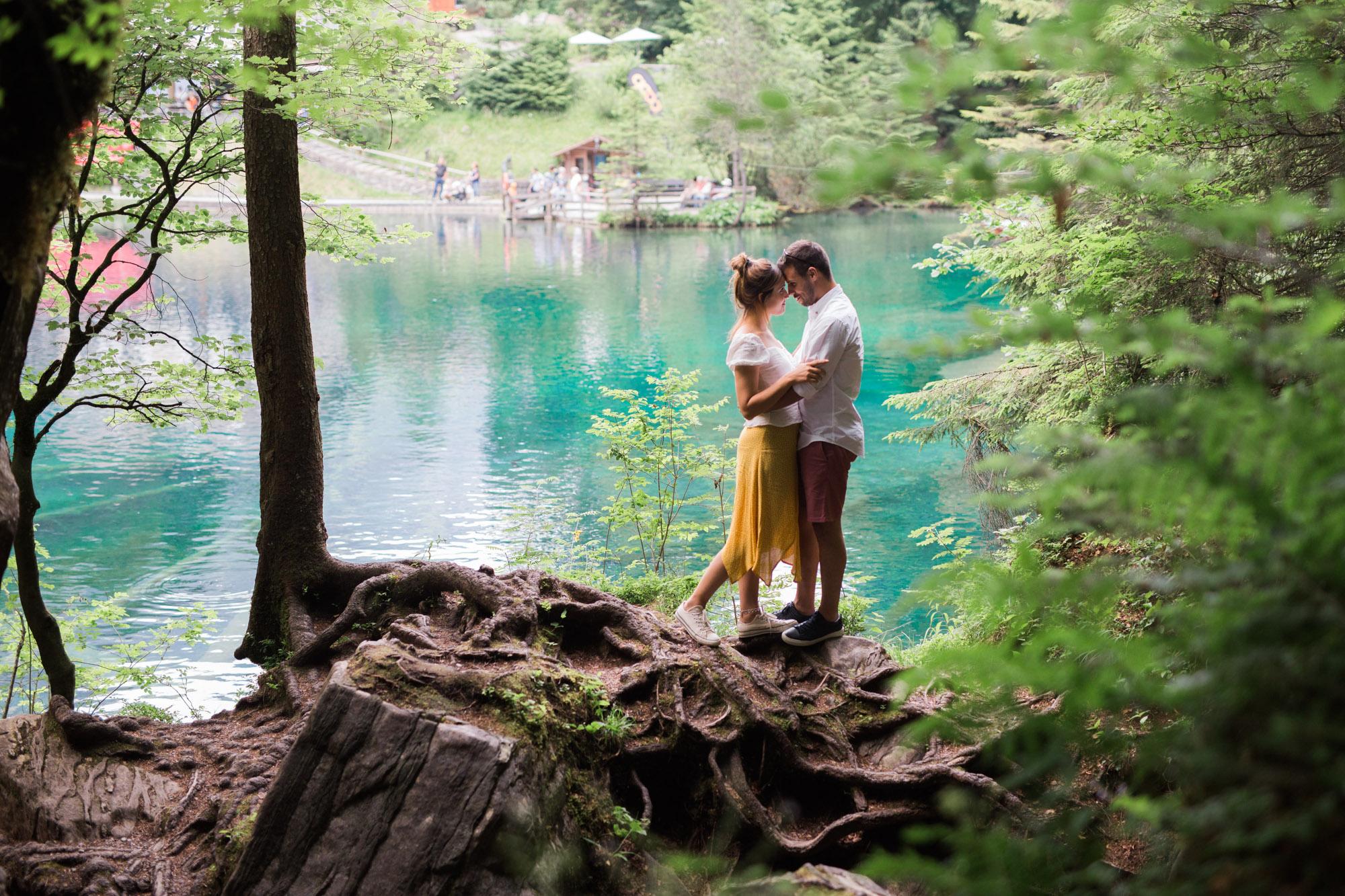 Sessão de solteiros no Lago Blausee