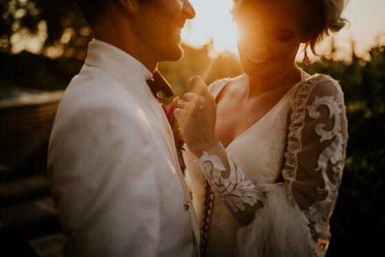Sessão de casamento de Outono