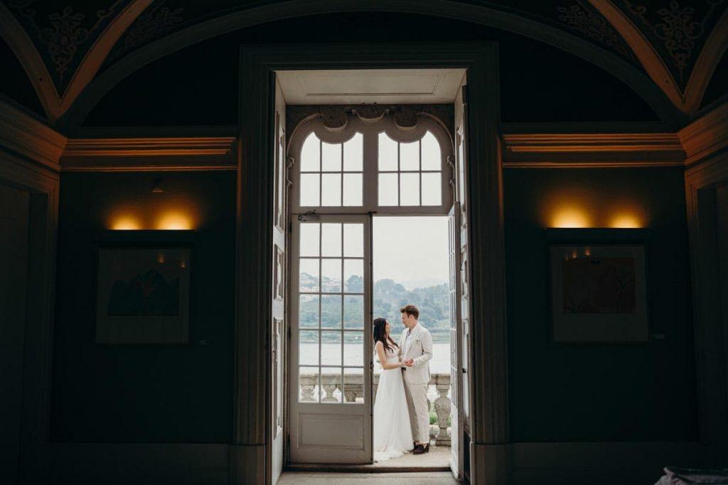 cumplicidade num casamento no Palácio do Freixo