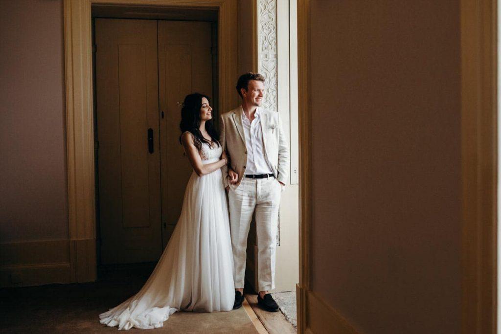 elegância de casamento no Palácio do Freixo